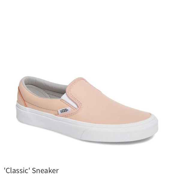 66920006fc04d9 VANS-  classic  slip on leather pink shoe- NIB